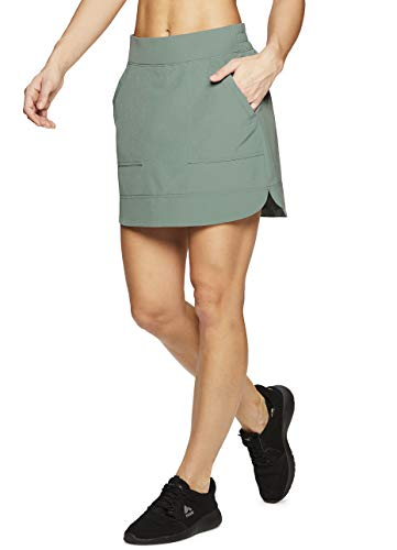 RBX Active Women's Golf/Tennis Athletic Skort with Bike Shorts and Pockets Spring Green XL