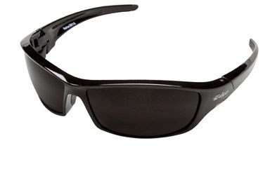 Edge Eyewear SR116 Reclus Safety Glasses, Black with Smoke Lens