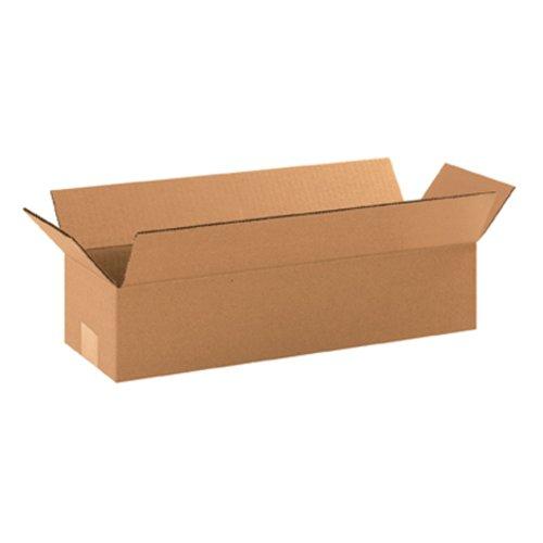 Aviditi 1864 Long Corrugated Box, 18'' Length x 6'' Width x 4'' Height, Kraft (Bundle of 25) by Aviditi