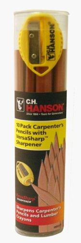 10 Lapices Ch Hanson Para Carpintero Con Sacapunta