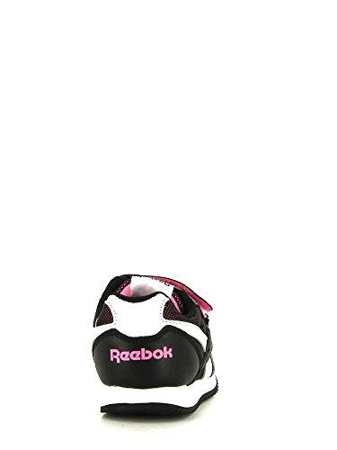 Reebok Royal Cljogger 2v - Zapatillas de deporte Unisex niños Negro - Noir (Black/White/Electro Pink)