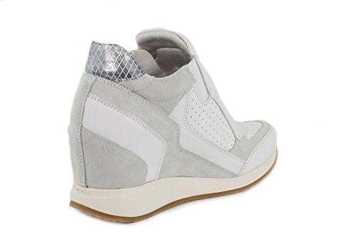 Geox Damen D Nydame A Hohe Sneaker Bianco