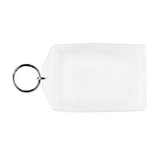 Acrylic Photo Snap-in Key Chain - 1 3/4 X 2 3/4