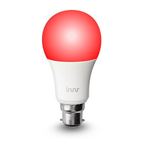 Innr B22 smart, color, dimmable, retrofit RGBW LED bulb (wifi enabled, iOS/ Android, Hue compatible)