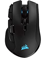Corsair Ironclaw Wireless RGB, Rechargeable Wireless Optical Gaming Mouse with Slipstream Technology (18,000 DPI Optical Sensor, 3-Zone RGB Multi-Colour Backlighting), Black