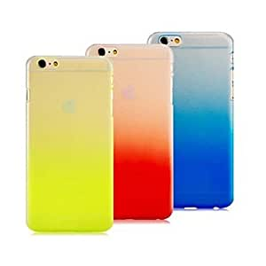 PEACH High Quality Ultra-thin Gradient Color Design PC Hard Case for iPhone 6 Plus (Assorted Colors) , Red