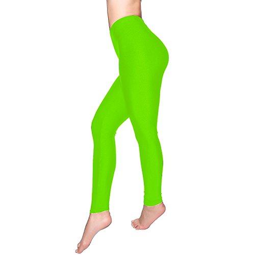 DCOIKO Women's Shiny Nylon Stretchy Skinny Dance Leggings Pants (L, Green)]()