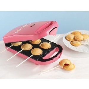 New Babycakes PM-100HS 6 Pie Pop Maker Minature Nonstick Coated Cakes PM16-Pink