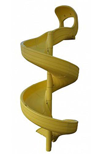 Twisty Slide for 9 Foot Deck Height (Yellow)
