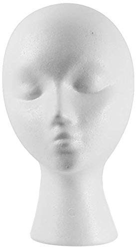12'' Inch Styrofoam Female Wig Head Mannequins Manikin, Style, Model & Display Women's Wigs, Hats & Hairpieces Stand - by Adolfo Designs (Manikin Styrofoam Head)