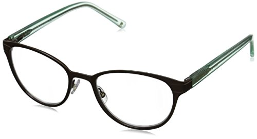 Kate Spade Women's Ebba Oval Reading Glasses, Brown Mint 1.0 & Clear, - Name Brand Glasses