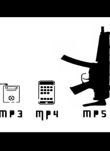 Rectangle Refrigerator Magnet - MP3, MP4, MP5 Assault Rifle