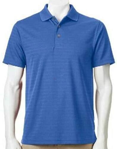 (Grand Slam Mens Slim Fit Moisture Wicking UPF +15 Short Sleeve Polo Golf Shirt-Size 2XL (Palace) )
