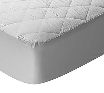 Pikolin Home - Protector de colchón acolchado cubre colchón de rizo de bambú, transpirable, 135 x 190/200 cm, cama 135 (Todas las medidas): Amazon.es: Hogar