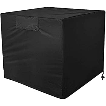 Air Conditioner Cover - Heavy Duty Outdoor AC Unit Cover Durable and Water Resistant for Winter Rain Snow Wind Dust Protection