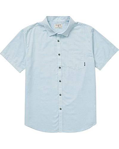 Billabong Men's All Day Helix Short Sleeve Shirt, Powder Blue, S