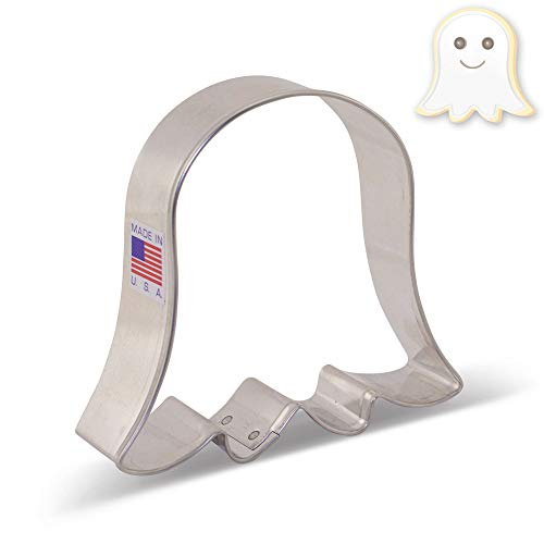 - Cute Ghost/Tulip / Bell Flower Cookie Cutter - 3.5 Inch - Ann Clark - US Tin Plated Steel