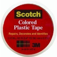 "3M 191CL Scotch 1-1/2"" x 125"" Colored Plastic Tape, Clear image"