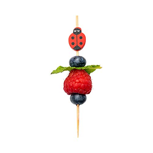 Ladybug Bamboo Skewer 4 inch 1000 count box by Restaurantware (Image #3)