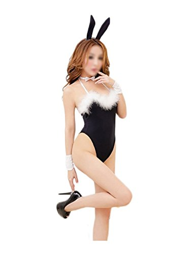 [2017 FS Hot Sexy Lingerie Body rabbit Costume disguise woman black] (Dallas Cowboys Cheerleader Adult Plus Costumes)