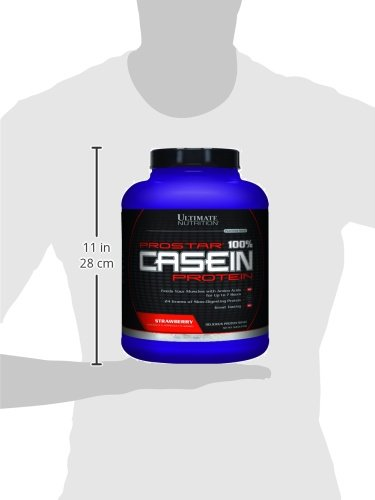 Ultimate Nutrition Prostar Casein, Strawberry, 5 Pound