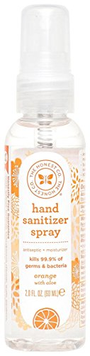 Honest Hand Sanitizer Spray - Orange with Aloe - 2 oz