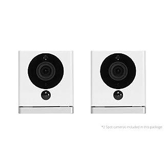 iSmartAlarm Spot HD Wi-Fi Security Camera (2pk) | 2-Way Audio Night Vision Motion Sensing | iSC5D, White