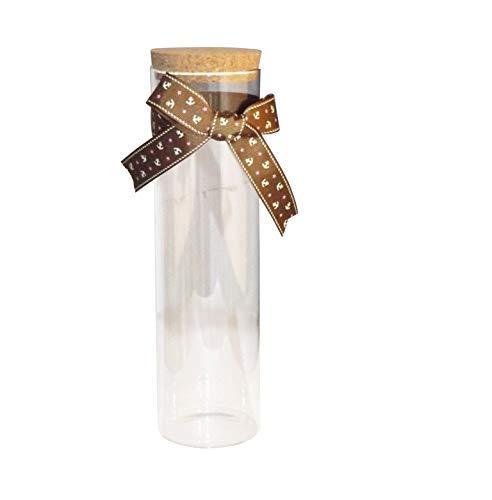 (MasterChinese Origami Star Glass Cylinder Jar with Cork (11
