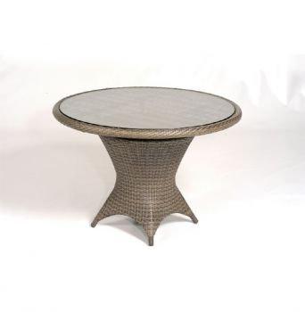 Tisch Bonaire rund, Alu-Gest., KS-Gefl. Cappuccino, H 75, D 110 cm