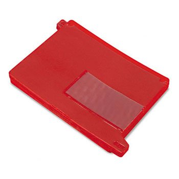 Smead® Colored Poly Outguides with Pockets OUTGUIDE,END/TAB,VYL,RD (Pack of2)