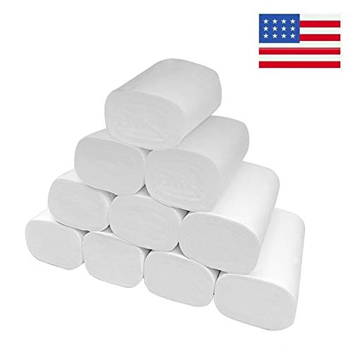 Toilet Paper Soft Skin-Friendly No Fragrance Bath Tissue Paper for Commercial Household-12 Rolls