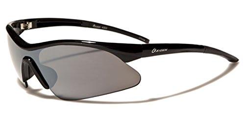 Lunettes homme soleil Noir poche vibrant Protection demi GRATUIT rectangle UV400 Verre Noir complet de Contour sport Oxigen Hutt fIFdpwqq