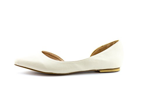 CALICO Comfort Slip Women's pu Flats KIKI Beige Pointed D'Orsay Half On Toe 4cq4AWBrg