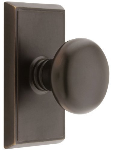 Providence Door Set With Round Brass Knobs Double Dummy In Oil Rubbed Bronze. Doorsets. by Emtek