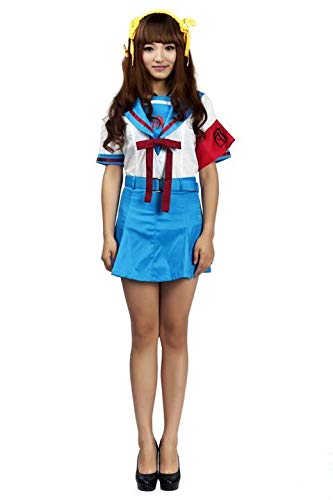 Mtxc Women's Suzumiya Haruhi Cosplay School Uniform Summer Outfit