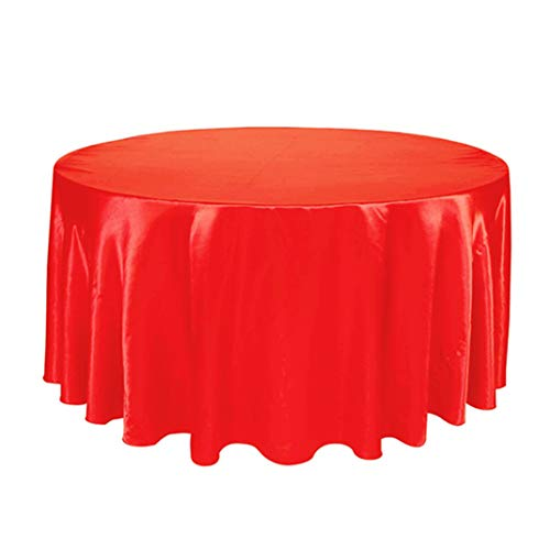 Round Tablecloths for Wedding/Banquet/Restaurant - Washable Satin Fabric Table Cover ()