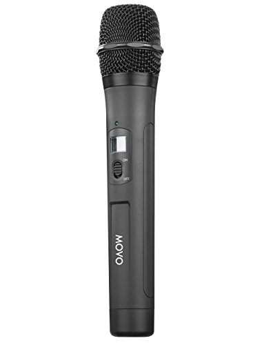 Movo WTH8 48-Channel UHF Wireless Handheld Microphone with Integrated Transmitter for the WMIC80 Wireless System