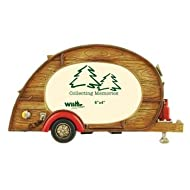 Vintage Tear Drop Trailer Camper Picture Frame, 4x6, 9.5-inch
