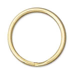 UnCommon Artistry 24mm Open Split Rings/Key Chain Rings Gold Tone (10)