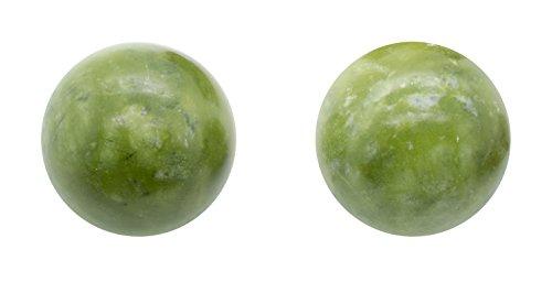 QiGong Kugeln   Yin Yang Kugeln   Jade Stein grün   Ø: ca. 50mm