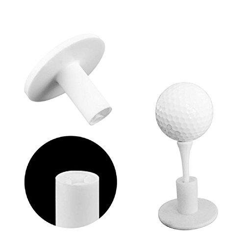 BCHZ 1Pcs Durable Rubber Golf Mat Tees Holder For Golf Driving Range Tee Practice Tool White