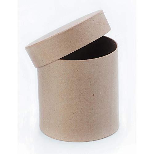 (Darice Bulk Buy DIY Paper Mache Box Round with Lid 4 x 4 inch (3-Pack) 2805-46FCAS)