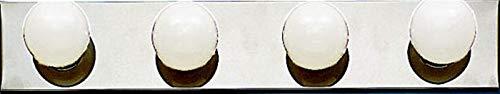 Kichler 624CH, Bath and Vanity Wall Vanity Lighting, 4 Light, 240 Total Watts, Chrome