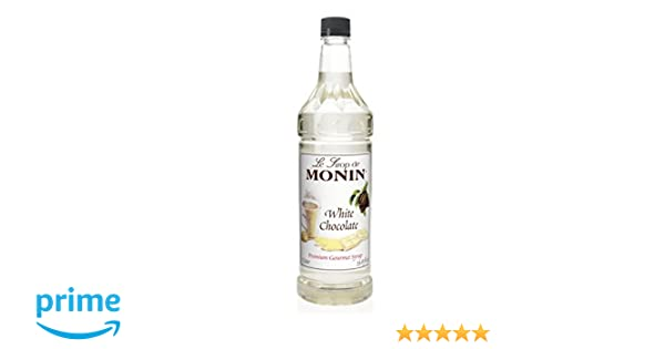 Amazon.com : Monin White Chocolate Syrup, 33.8-Ounce Plastic Bottle (1 liter) : Grocery & Gourmet Food