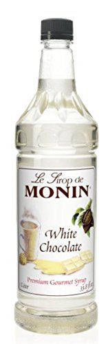 Monin White Chocolate Syrup, 33.8-Ounce Plastic Bottle (1 liter)