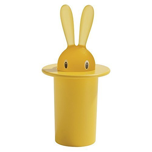 Alessi A di Magic Bunny Toothpick Holder, Yellow