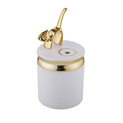 Lisin Lamp Humidifier Cute Cat LED Humidifier Air Diffuser Purifier Atomizer (Gold)