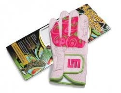 Loudmouth Golf Womens Golf Glove: Cotton Candy Size Large