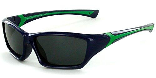 "Aloha Eyewear Kids ""Splash"" Wrap Around 51mm Polarized Sunglasses, Flexible (Indigo)"