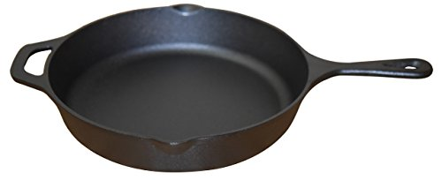 Wee's Beyond Pre-Seasoned Cast Iron Skillet/Frying Pan 5302-HS, Black